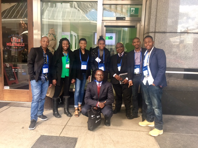 SA students in Canada SA pictured here with Mr Mabuza and Mr Ramagwede